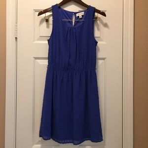 Elle short blue dress